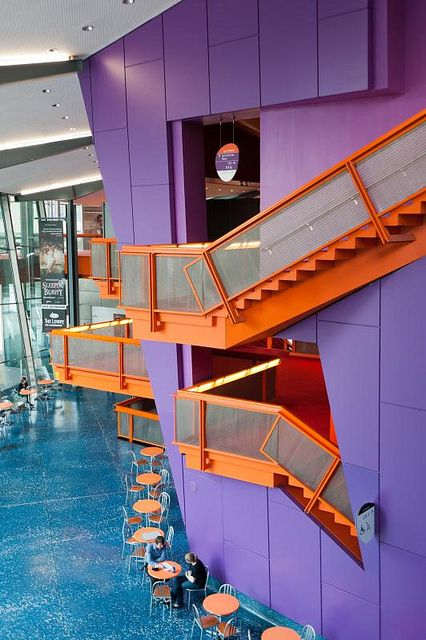 Lowry Art Center, #Salford #Manchester, #England #architecture #stairs - Things to do in Manchester aside for joining the Social Media: The Essential Toolkit training course that takes place on December 8th bit.ly/1xQnxTs #thingstodo #Manchester