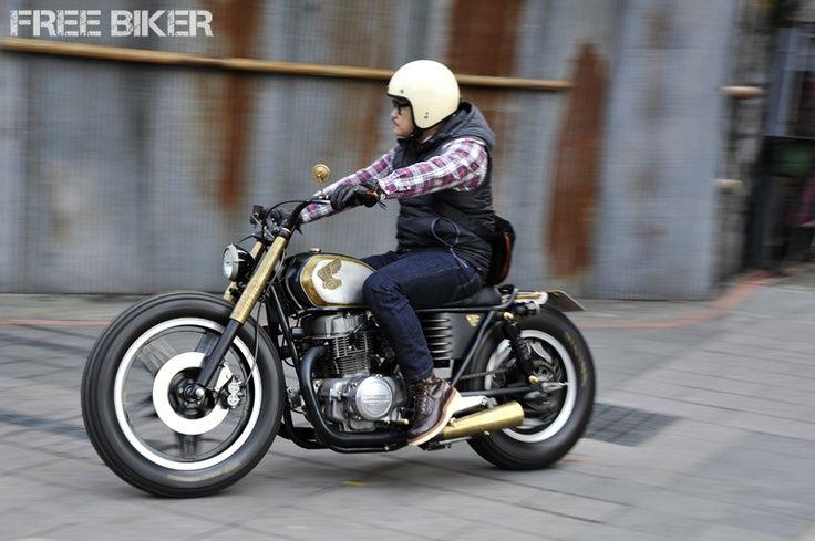 Amazing Honda CB400N café bobber custom what-have-you...