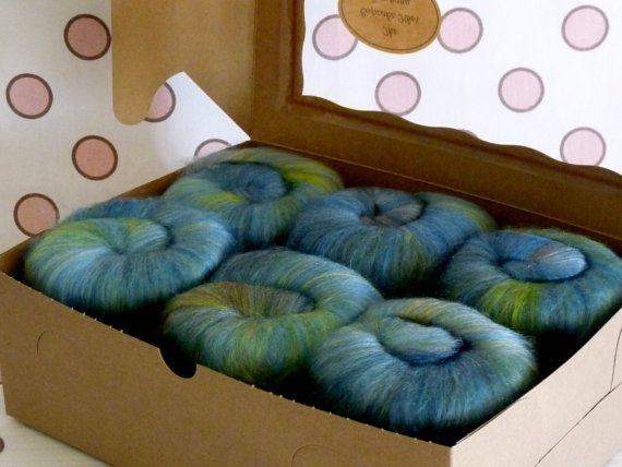 Spinning Fiber Batts Merino & Tencel  Daydream by cupcakefiberco