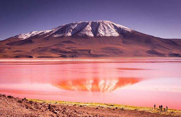 lugares coloridos visitar viagem américa latina lagoa colorada salar de uyuni Bolívia