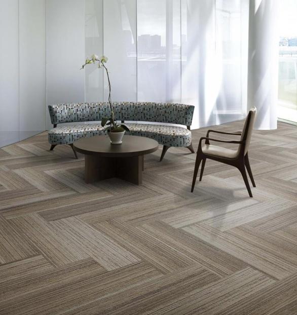 Beautiful Interface Tile Carpet Herringbone Pattern Of Walk The Plank