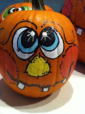 Our Garden Path: Painting Pumpkin Faces