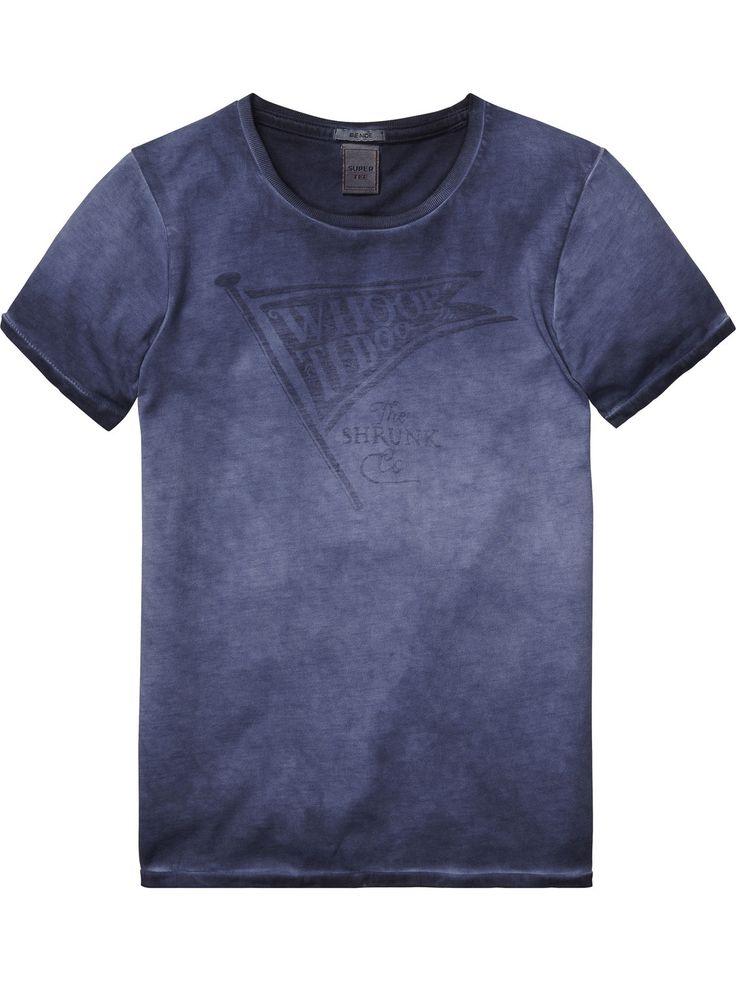 T-shirt avec délavage spécial |T-shirt m/c|Habillement Garçon Scotch & Soda