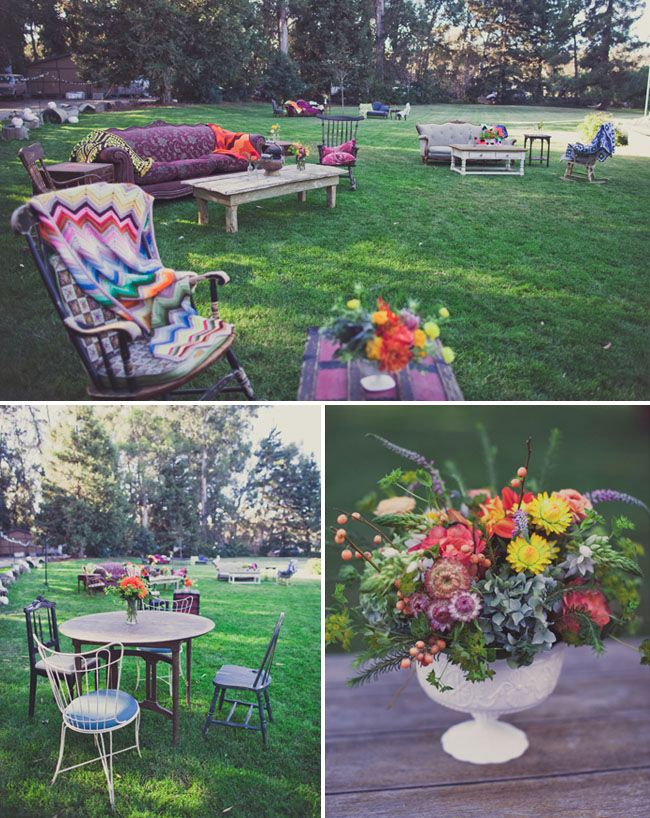 Eclectic California Wedding: Marcella + Nick as seen on Green Wedding Shoes - shot by Wildflower Photos -- rentals by Rust Vintage