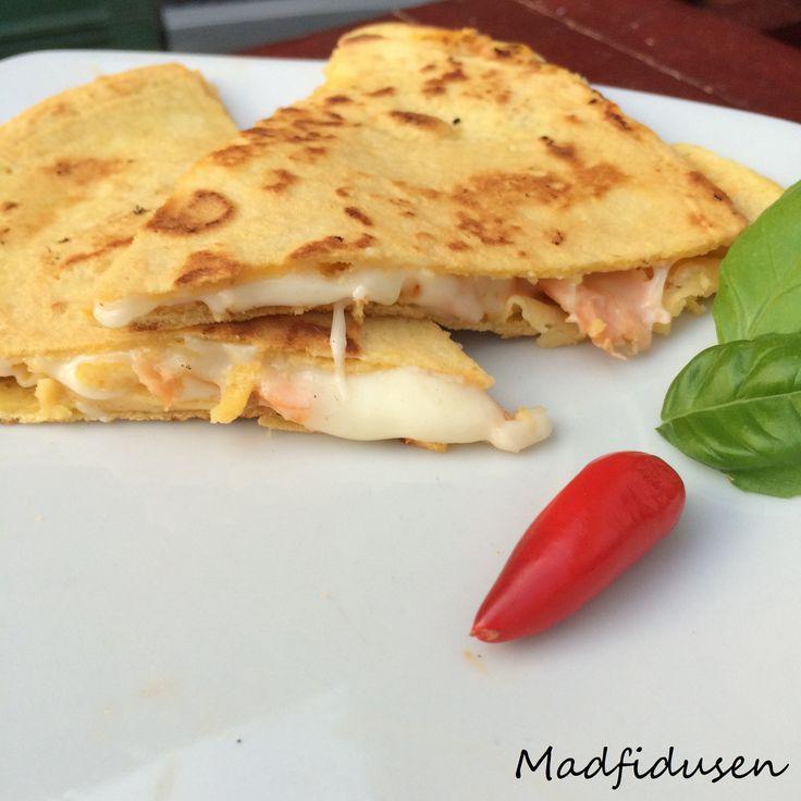 Quesadillas - salmon and cheese