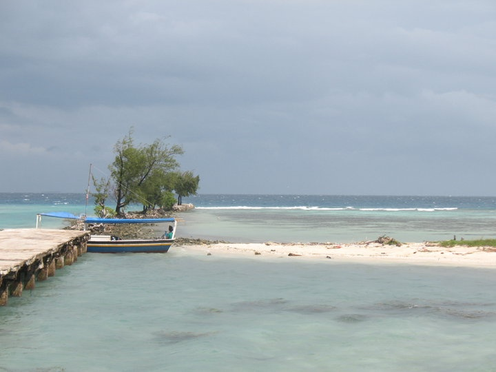A boat anchored at the dock ~ Tidung Island, Jakarta