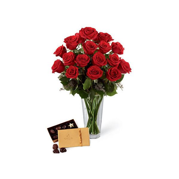 Red Roses Godiva Chocolates Box ($72) ❤ liked on Polyvore featuring home, home decor, small item storage, valentines day home decor, red home accessories, rose home decor and red home decor