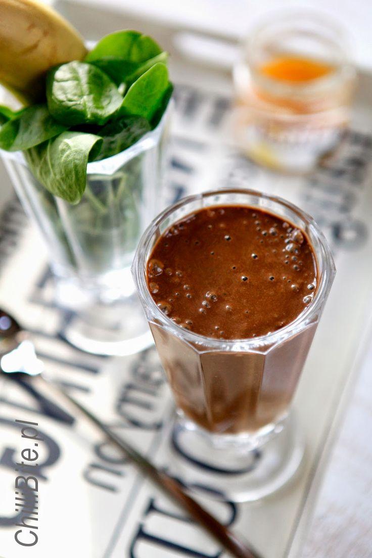 ChilliBite.pl - motywuje do gotowania!: Przeciwstresowy czekoladowy koktajl ze szpinakiem
