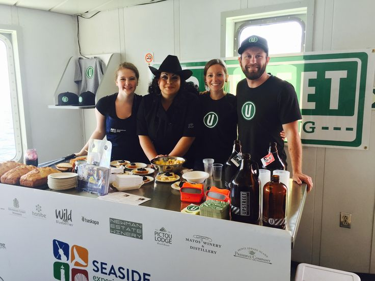 Chef Ilona and Upstreet Brewing serve up samples onboard NFL Ferries.