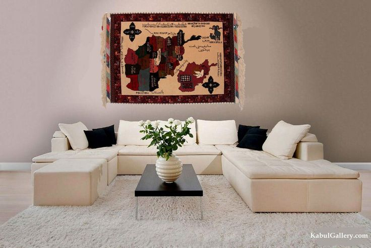 super fine quality Beautiful and rare Afghan silk rug, oriental rug map of Afghanistan