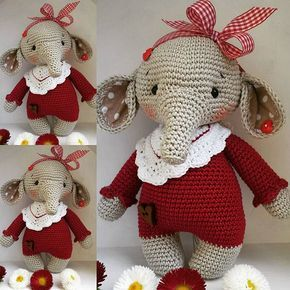 Little girl is looking for a new home  pattern @amalou.designs  #knittinglove #crochetlove #crochetwithlove #marleensmadeforyou #häkelnisttoll #amigurumidoll #elephant #yarnlover #amigurumi #diy #littlegirl #lennardsglauchau #knitters
