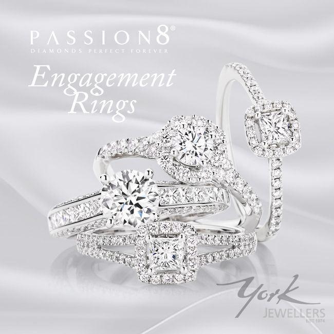 Passion8 Diamond Engagement Rings available at York Jewellers