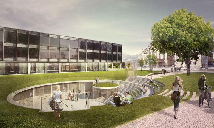 Proposta Vencedora para o Centro de Mídia para o Cidadão/ Henning Larsen Architects