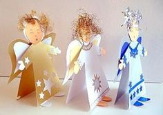 Stehender Engel als Tischdekoration - Weihnachten-basteln - Meine Enkel und ich - Made with schwedesign.de