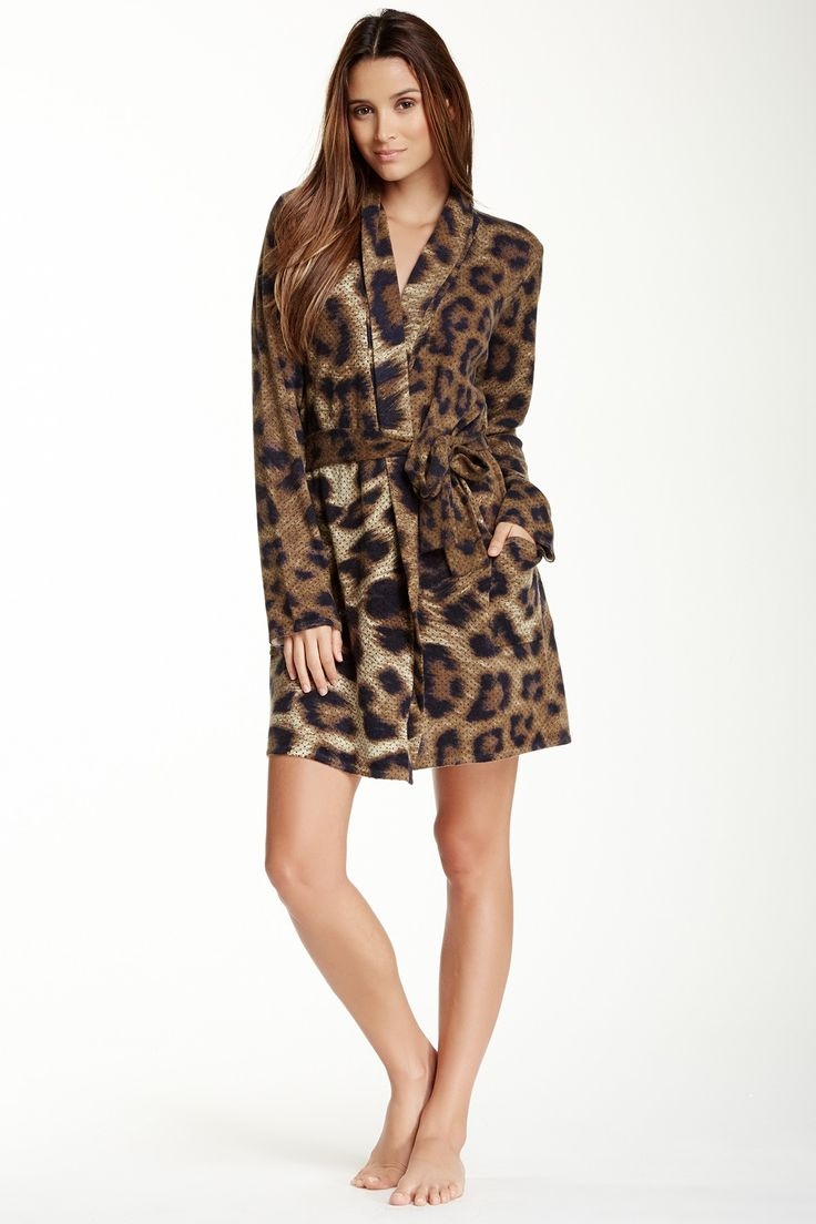 Short Animal Print Cashmere Robe by Magaschoni on @nordstrom_rack