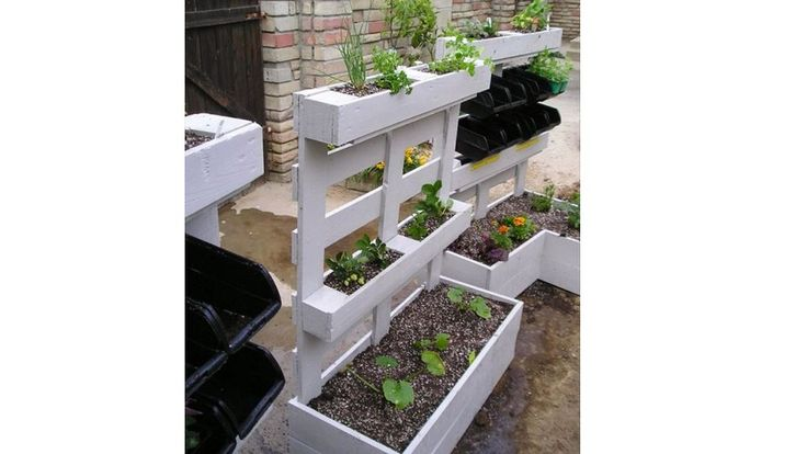 jardiniere palettes blanches