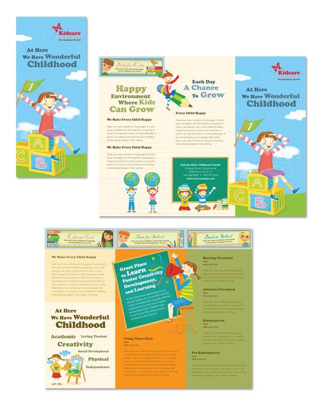 Child Development School Tri Fold Brochure Template
