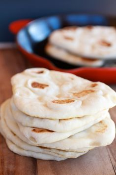 """Homemade Greek Pita Bread -- I like how she """"bakes"""" them in a skillet instead of the oven. I set off the smoke alarm when I made some in the oven and thought I'd never try them again, but I think I'll give it another go with this method."""