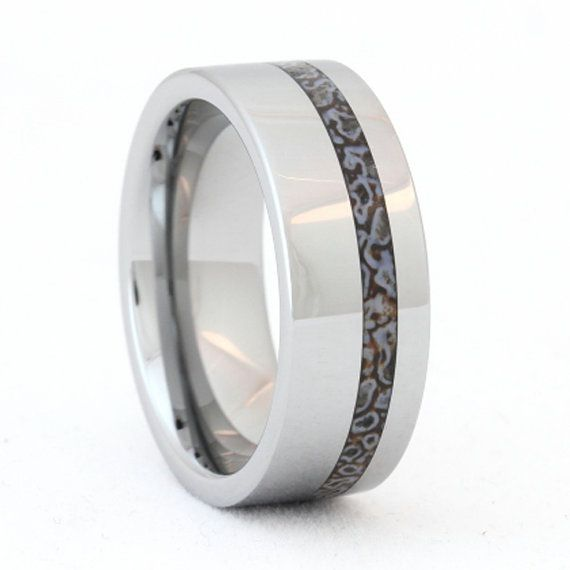 Hey, I found this really awesome Etsy listing at https://www.etsy.com/listing/118419554/tungsten-ring-dinosaur-bone-ring-unique