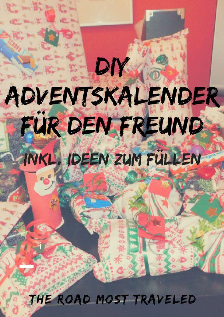 DIY Adventskalender für den Freund inkl. Ideen zum Füllen