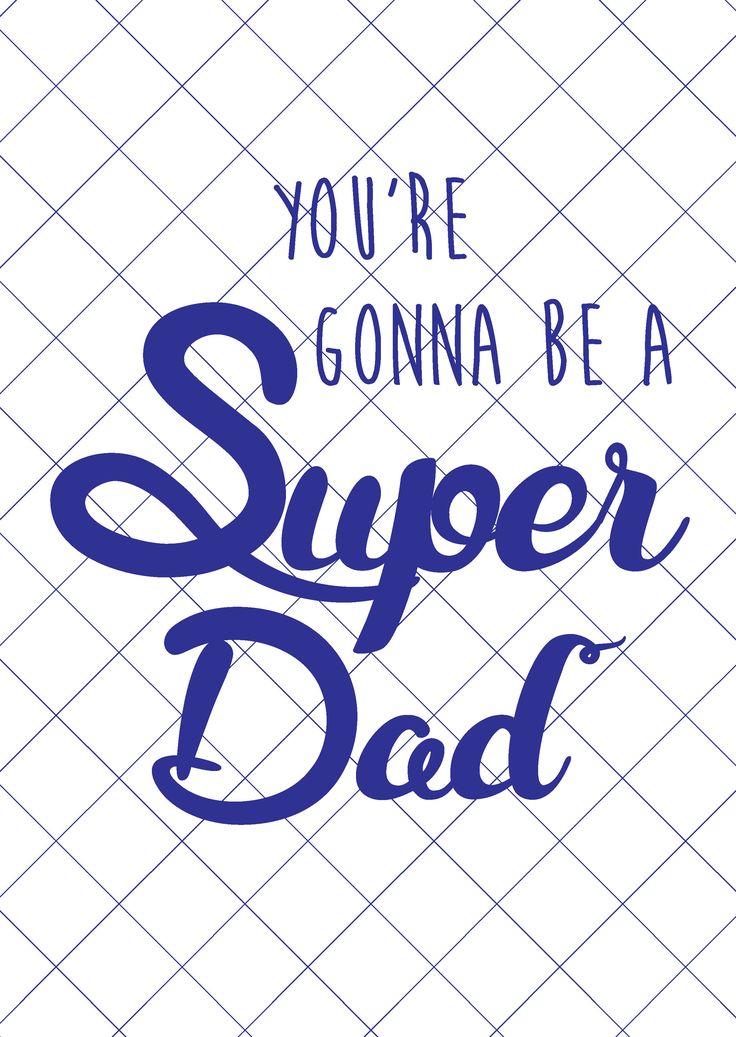 Postkaart super dad Postkaart super dad. Dezekaart is geschiktvoor nieuw bakken vaders.  [ssba]...