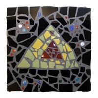 Mosaic artwork by Carol Rousch created during a 2013 residency with Michelle Getzlaf.