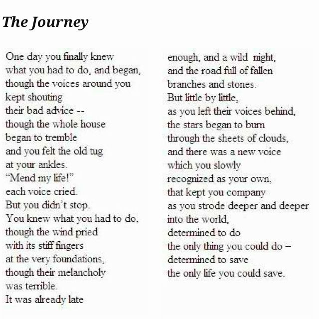The Journey - Mary Oliver
