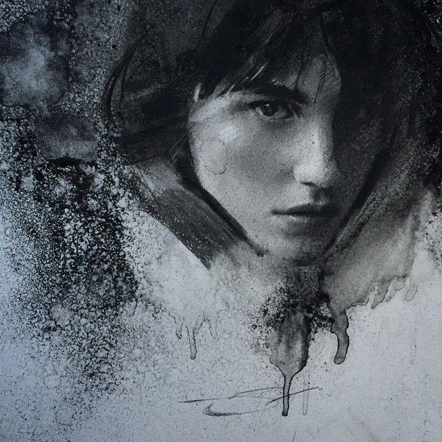 Instagram media by caseybaugh - Charcoal sketch ➰ #art #charcoal ( model - @langleyfox )