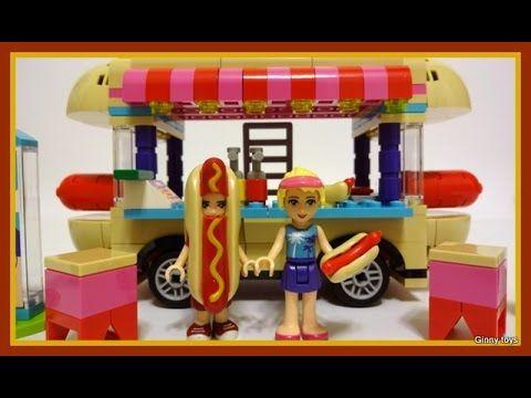 Lego Friends 41129 Amusement Park Hot Dog Van - Lego Speed Build Review ...