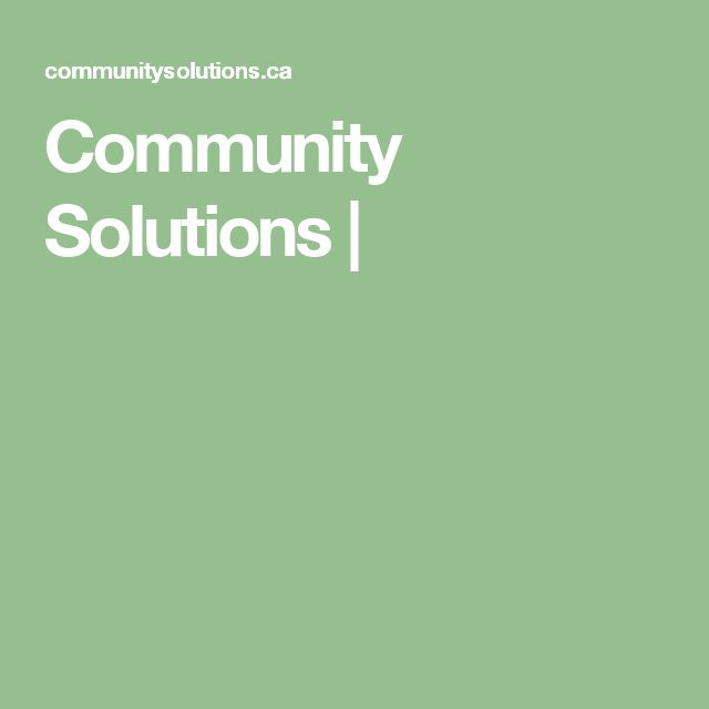 Community Solutions |