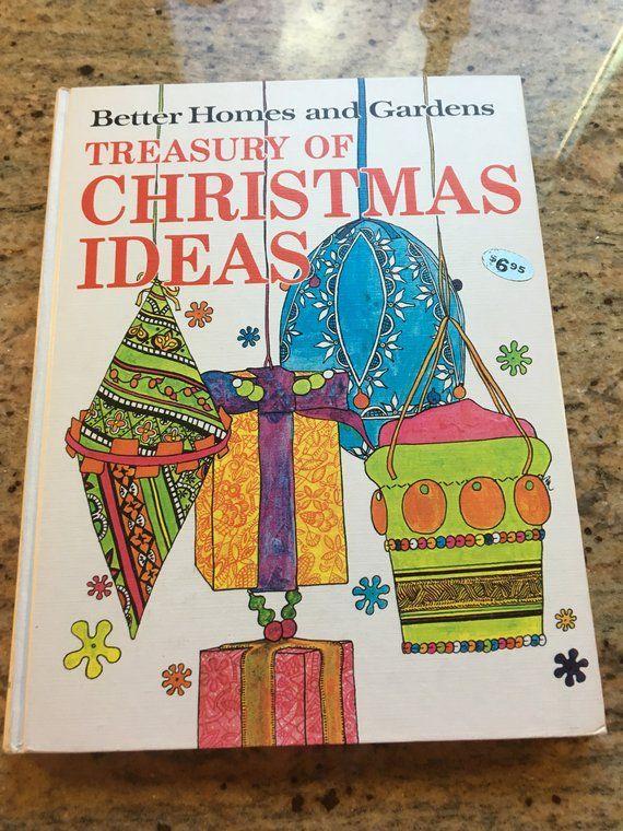 Bhg Christmas Ideas Book 1966 Etsy In 2020 Vintage Christmas Crafts Christmas Books Book Crafts