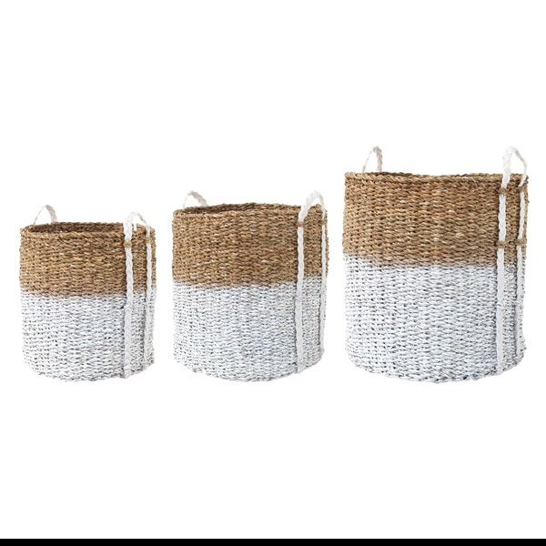 These Beautiful Seagrass Storage Baskets Are So Versatile And Look  Stunning. They Would Also Be Great As A Washing Basket. Dimensions: Medium  Dia X Large ...