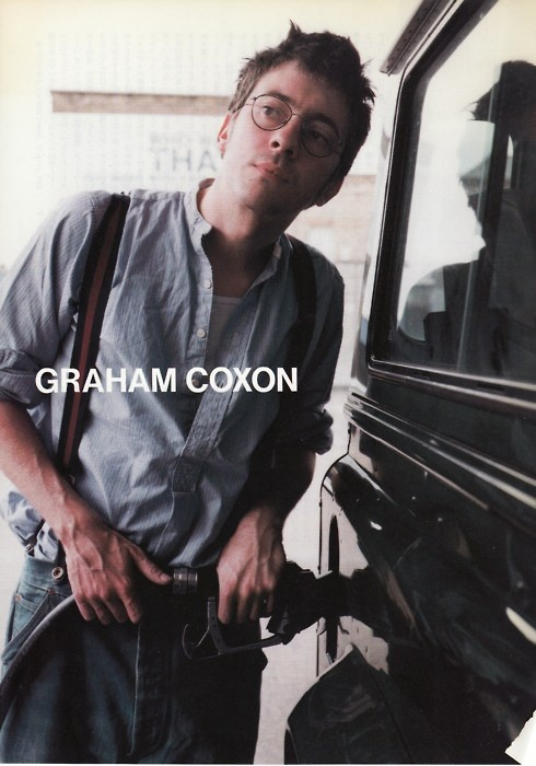 Modern life truly is rubbish: Graham Coxon gassing up some large vehicle