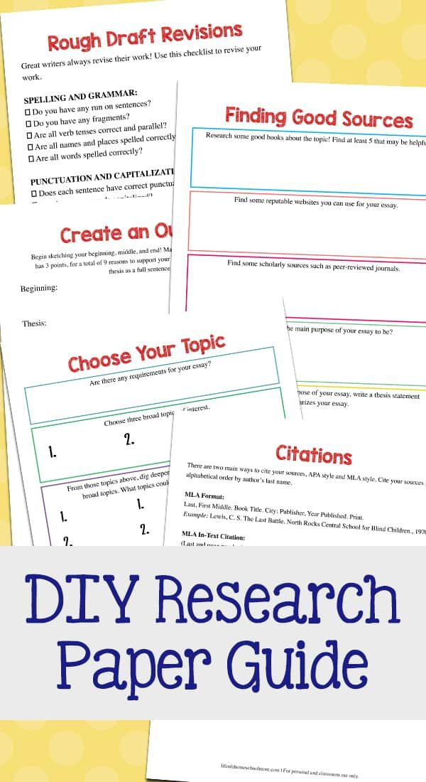 Research Paper Writing Guide Pack Tips For Homeschool Students Mom For All Seasons In 2020 Guided Writing Homeschool Writing Research Paper