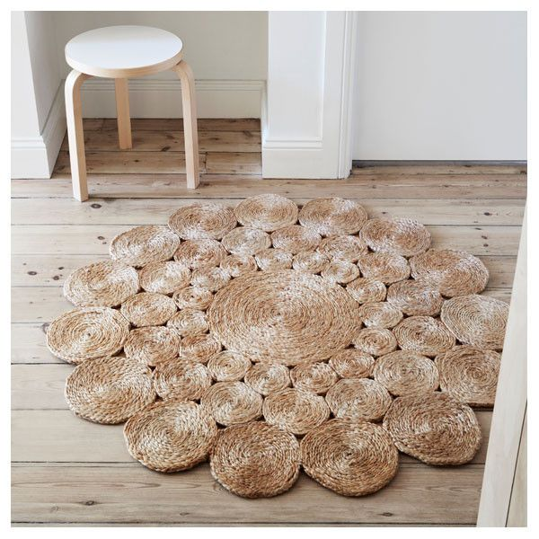 Natural Camellia Flower Weave Rug by Armadillo&Co