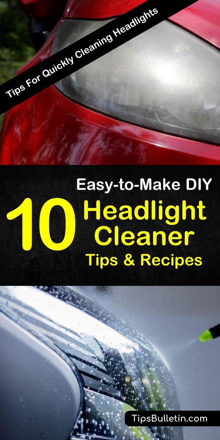 how to clean foggy headlights diy
