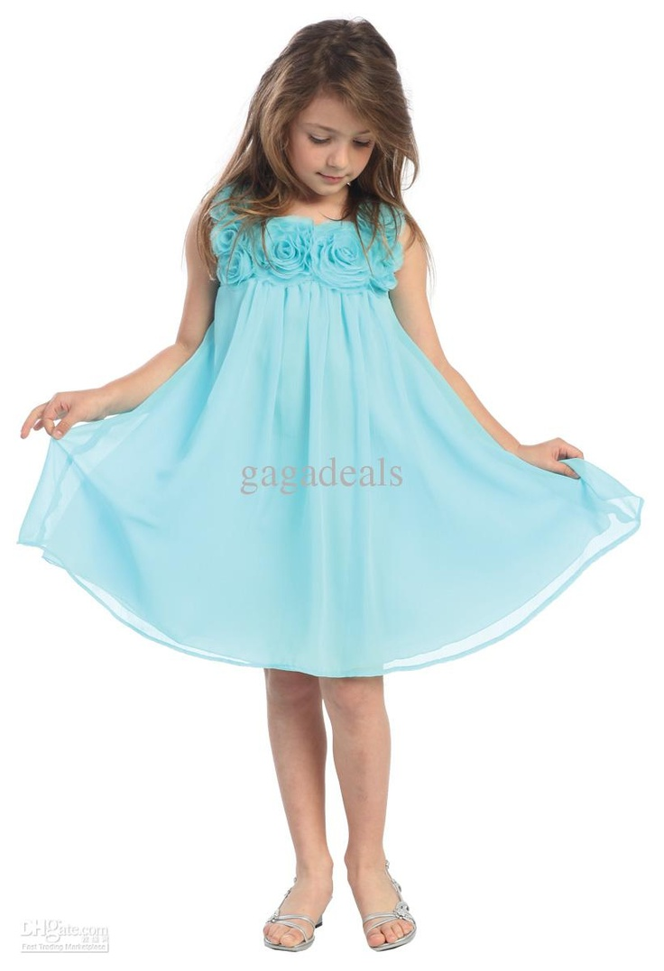 Wholesale Flower girl dresses gown Kids Bridesmaid Dresses junior bridesmaid Dress Hand Made Flower 123, Free shipping, $53.76-67.2/Piece | DHgate