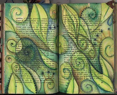 what is it about painting on pages of a book that speak to my heart?