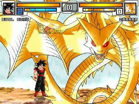 Dragon Ball Z Battle - Evil Goku, Vegeta SSJDB vs Zarama