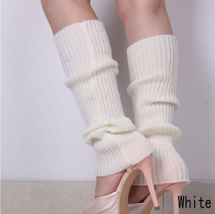 糖果色毛线袜套春秋冬腿套韩版堆堆袜套针织脚套竖条纹靴套包邮-淘宝网