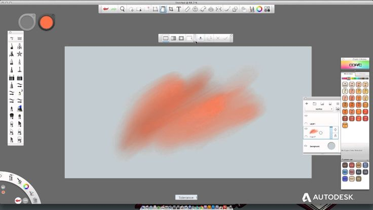 Autodesk SketchBook Pro 7  Distort & Selection tool