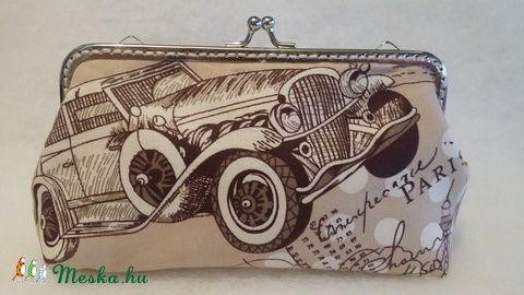 Meska - Autó és Párizs mintás pénztárca solba66 kézművestől