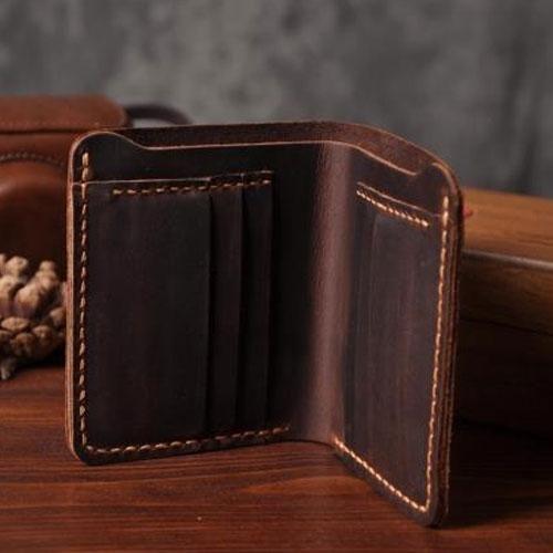 Handmade <b>Leather Mens</b> Cool Slim <b>Leather Wallet Men</b> Small ...