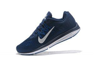 1e068bbef91a4 Mens Sneakers Nike Zoom Winflo 5 Navy Blue White AA7406 401