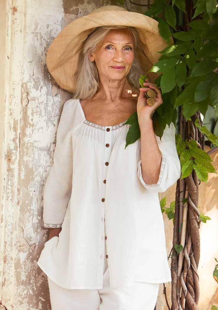 Blouse in linen & cotton – New arrivals! – GUDRUN SJÖDÉN – Webshop, mail order and boutiques | Colourful clothes and home textiles in natural materials.