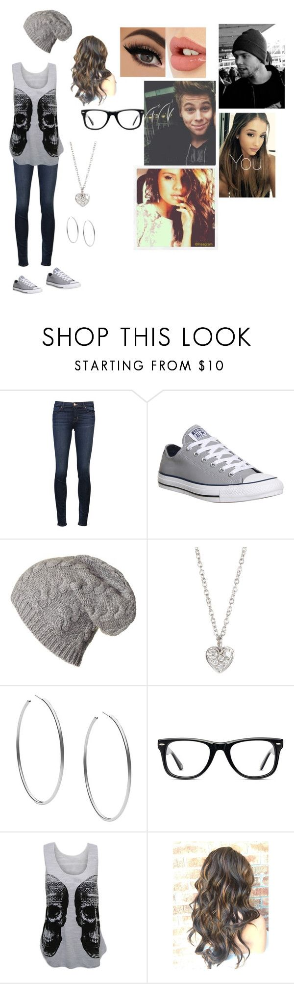 """""""You and your boyfriend Luke and your best friends Selena and Ashton going out for a walk"""" by becca-arceo ❤ liked on Polyvore featuring J Brand, Converse, Finn, Michael Kors, Muse, WearAll, Charlotte Tilbury and Justin Bieber"""