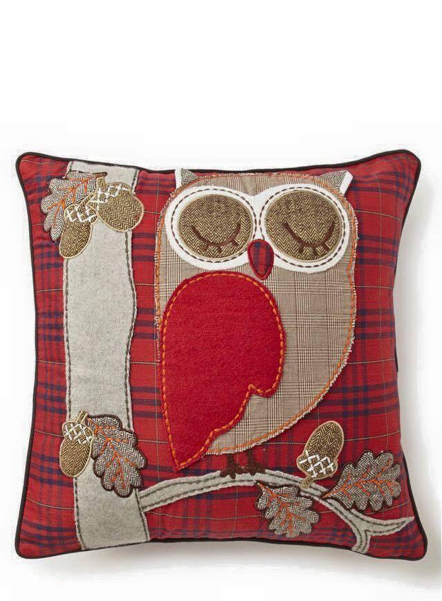collection de coussins originaux faire soi m me hibou applique coudre et mod les de hibou. Black Bedroom Furniture Sets. Home Design Ideas
