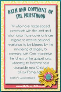 Punchy image with regard to oath and covenant of the priesthood printable