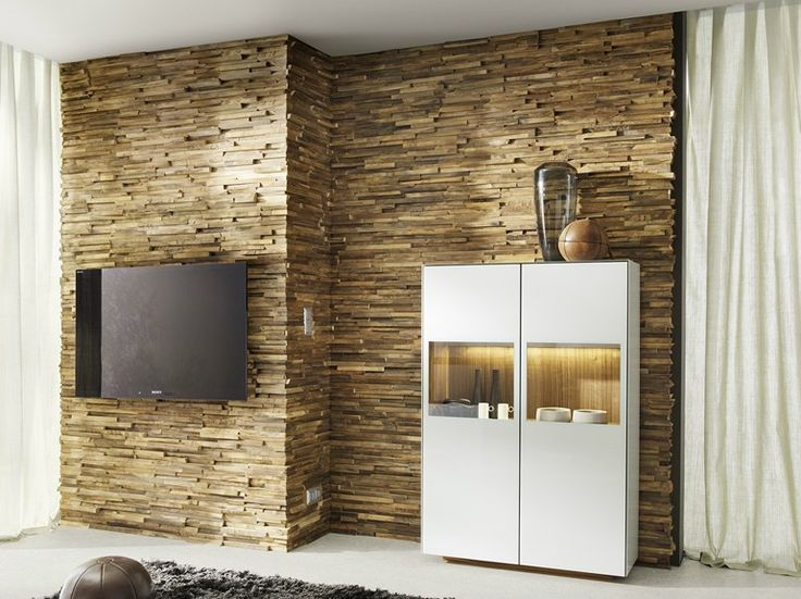 Wooden 3D Wall Cladding for interior WALDKANTE by TEAM 7 Natürlich Wohnen