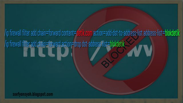 cara mudah blokir website menggunakan mikrotik firewall filter rules